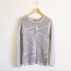 DKNY crochet sweater
